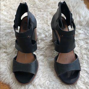 Dolce Vita Black Distressed Block Heels size 9